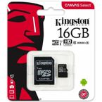 Karta pamięci Micro SDHC 16GB Class 10 UHS-I Kingston SDCS/16GB