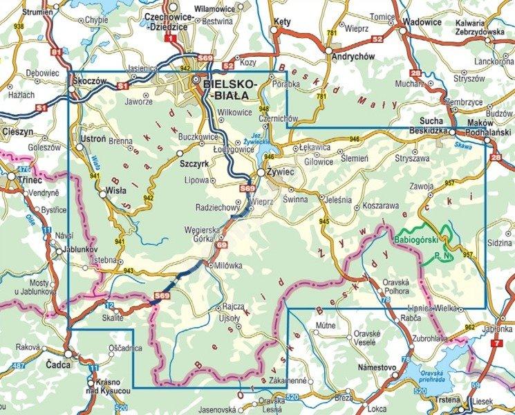 Mapa Turystyczna Beskid Slaski I Zywiecki Cs6728 Sklep Hobbyhouse Pl