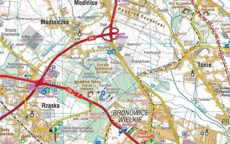Mapa Turystyczna Okolice Krakowa Cs6725 Sklep Hobbyhouse Pl