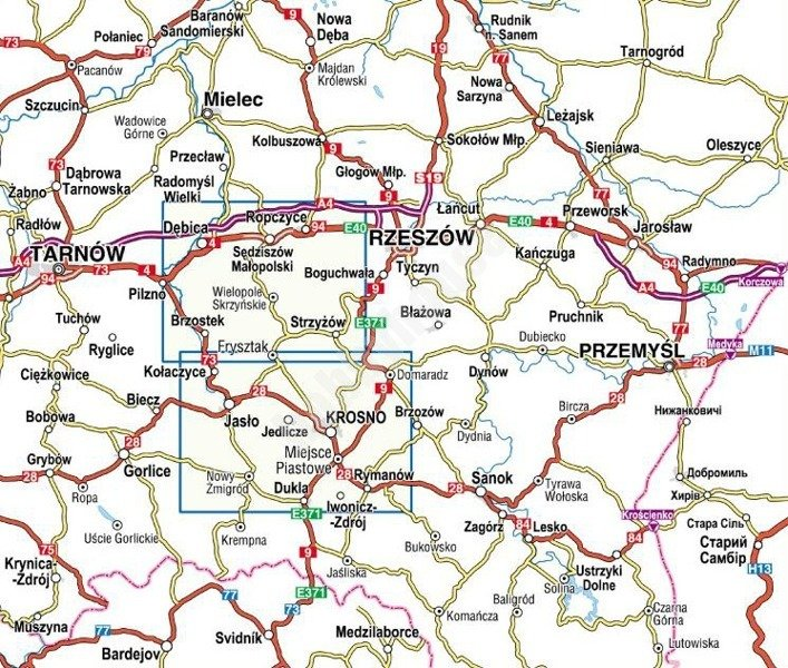 Mapa Turystyczna Strzyzow Krosno Jaslo Sklep Hobbyhouse Pl