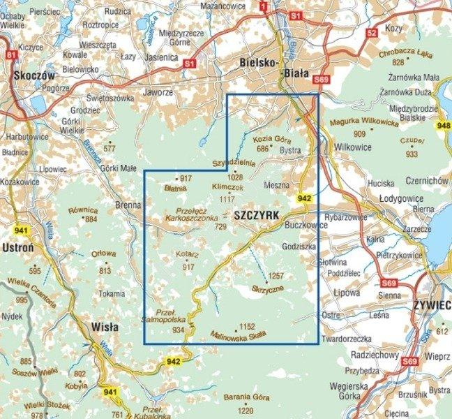 Mapa Turystyczna Szczyrk I Okolice Cs6729 Sklep Hobbyhouse Pl
