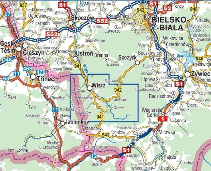Mapa Turystyczna Wisla Cs6762 Sklep Hobbyhouse Pl