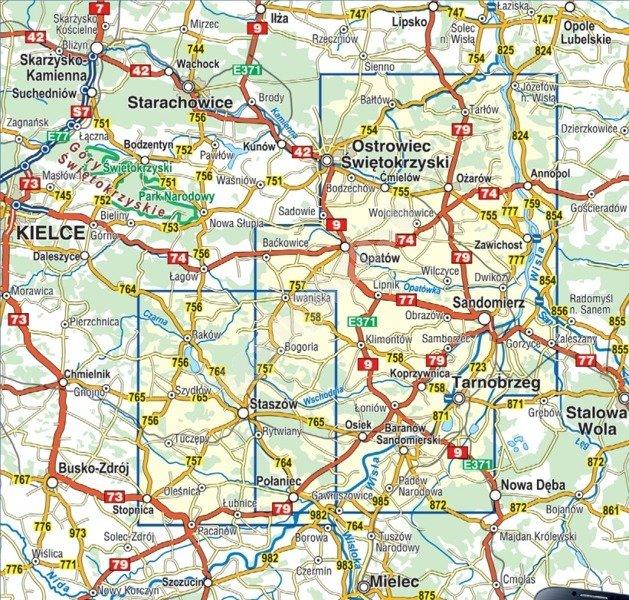 Mapa Turystyczna Wyzyna Sandomierska Cs6755 Sklep Hobbyhouse Pl