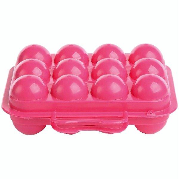 Pojemnik na jajka 12szt. różowy WL4794